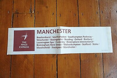 The Pines Express Loco Railway Window Notice Manchester Stockport Southampton