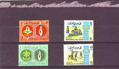 Iraq - Sg787-790 Mnh 1967 Iraqi Scouts & Girl Guides