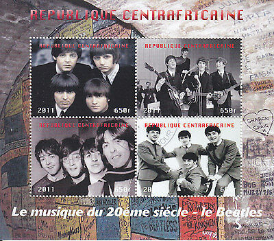 The Beatles Sheet Of Stamps