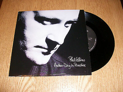 """PHIL COLLINS another day in paradise 7"""" single"""