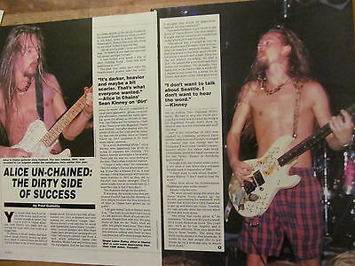 Alice in Chains, Two Page Vintage Clipping