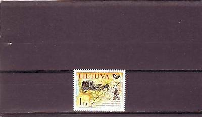 Lithuania - Sg869 Mnh 2005 Postal History - Stage Coach & Map