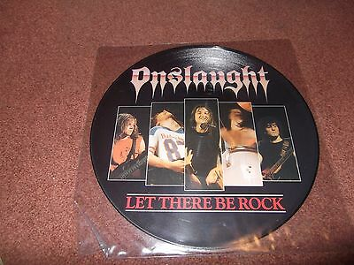 "Onslaught  Let There Be Rock  12"" Single Picture Disc.ex."