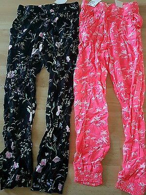 2 pairs of BNWT Girls harem trousers age 8-9 years