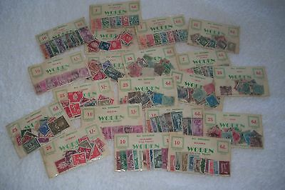 Twenty Packs Of Stamps (Woden) Various Countries)