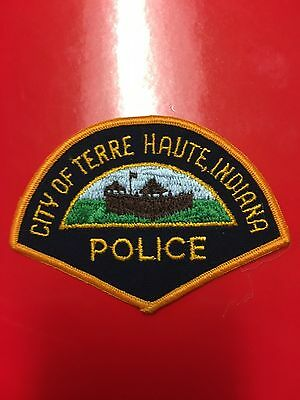 Terre Haute Indiana Police  Shoulder Patch  Used