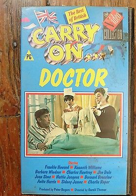 Carry On Doctor Vhs Pal Video Tape Film