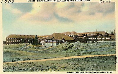 "Yellowstone National Park ""grand Canyon Hotel"" Unused Linen Postcard"