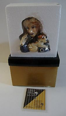 "New Cameo Girls Lady Head Vase Angeline 1934 ""FOXY LADY"" MIB LV-046"