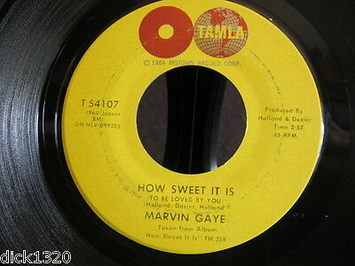 MARVIN GAYE HOW SWEET IT IS (To be loved by you) USA 1964 ORIGINAL EX+ COPY