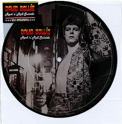 """David Bowie - Rock 'n' Roll Suicide 7"""" picture disc New Sealed 2014 RSD RARE"""