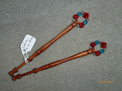 Lacemaking Lace Bobbins Pair Colombian Rosewood