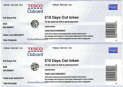£20 worth of Tesco Clubcard Days Out Tokens / Vouchers.
