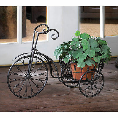 PLANT STAND: Nostalgic Iron Bicycle Planter with 10 Inch Basket NEW