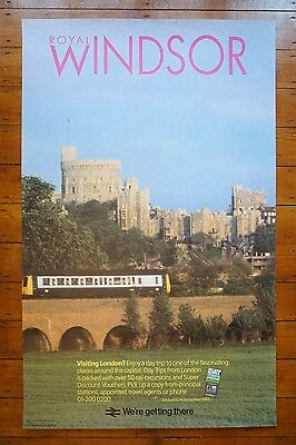 1985 Royal Windsor Inter City Original Railway Travel Poster