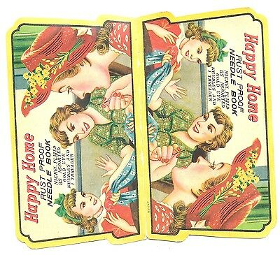 Vintage Happy Home Needle Book New Complete Vintage Sewing Needle Book Japan