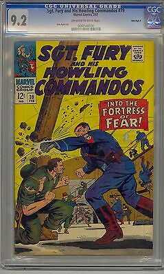 Sgt. Fury And His Howling Commandos #39 Cgc 9.2 Off-White To White Pages Marvel