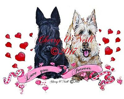 Be My Scottie Valentine! Boxed Set of 10 Identical Scottish Terrier Cards