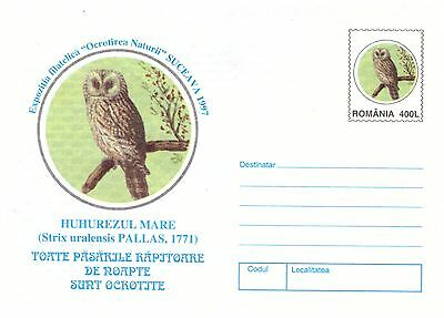 ROMANIA 1997 3 x POSTAGE PRE PAID ENVELOPES OWL STAMPS & CACHETS MINT CONDITION