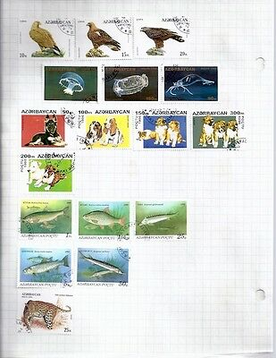Azerbadjan • Misc Stamps mounted on Pages •