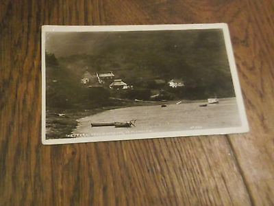 1920 Real Photo Postcard Of The Ferry At Yealm Harbour Plymouth Devon