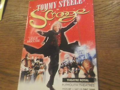 Scrooge The Musical Theatre Programme Hand Signed By Tommy Steele