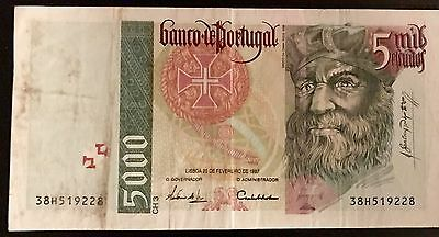 Bank of Portugal 1996 Issues - 5000 Escudos