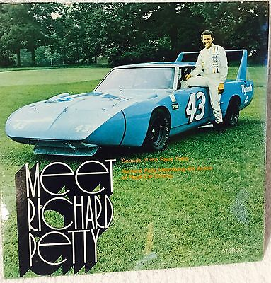 Meet Richard Petty Record Album And Book NASCAR Plymouth Racing Mopar 1970 Rare