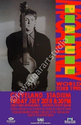 Paul McCartney / Beatles 1990 Cleveland Concert Poster