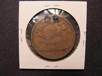1855 Old Prentice Whisky Token - Vintage, large swastika good luck coin
