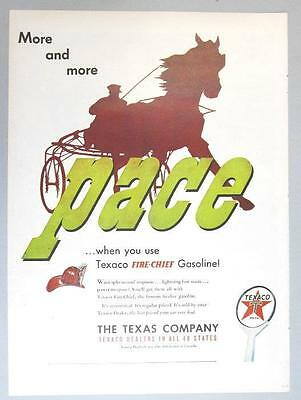 Original 1949 Texaco Fire Chief Ad  MORE AND MORE PACE WITH FIRE CHIEF