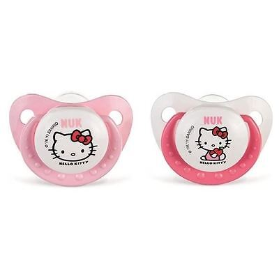 NUK 2 Sucettes 0-6 Mois Silicone Trendline Hello Kitty