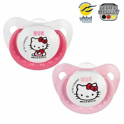 NUK 2 Sucettes Silicone Trendline T3 Hello Kitty