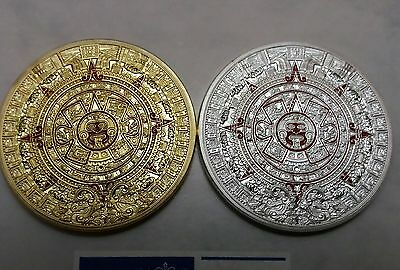 Prophecy Of The Mayan Aztec Gold/Silver Calendar Commemorative Coin Souvenir UK