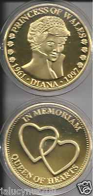 Princess Diana~Queen Of Hearts~24Kt Gold Collector Medallion