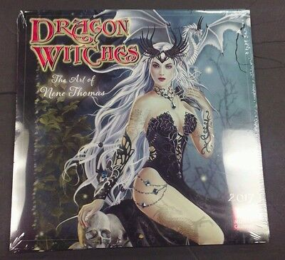 "Sellers Publishing 2017 ""dragon Witches: The Art Of Rene Thomas"" Wall Calendar"