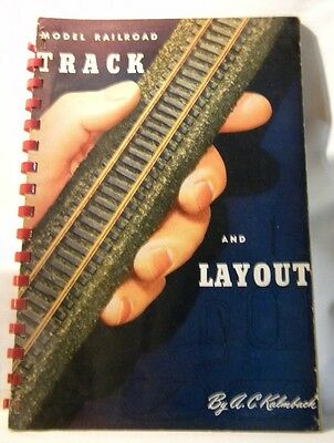 Model Railroad Track and Layout by Kalmbach 1951 Spiral Bound