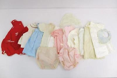 Lot of 18 Vintage Baby Girl Clothes Dresses Diaper Covers Bonnet Handmade