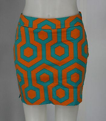 Women's LOUDMOUTH Orange And Teal Skort Size 4