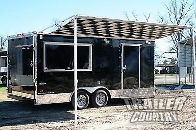 NEW 8.5 X 18 Enclosed Tail Gate BBQ Bar-B-Q Competition Food Concession Trailer