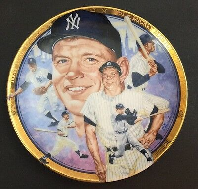 The Legendary Mickey Mantle Plate  from  The Hamilton Collection
