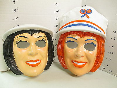 halloween mask 1970s (2) STEWARDESS tennis player girl