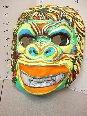 halloween mask 1970s gorilla monkey King Kong psychedelic