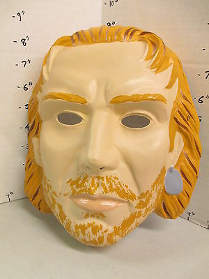halloween mask 1980s unidentified cartoon character bearded guy