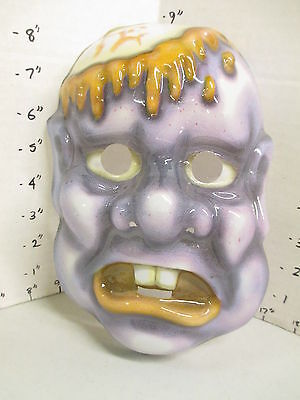halloween mask 1990s MONSTER purple zombie scalped brain exposed bloody