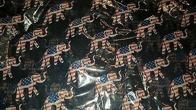 Republican red white and blue Elephant scarf new