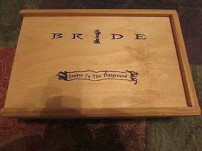 BRIDE WOODEN BOX - SNAKES IN THE PLAYGROUND - Christian Heavy Metal Rock - EMPTY