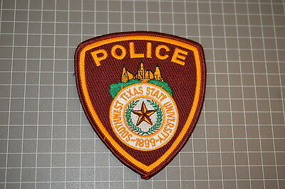 Southwest Texas State University Police Department Texas Patch (B17)