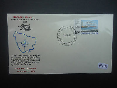 Norfolk Island 1974 Aircraft Landing (1v) First Day Cover
