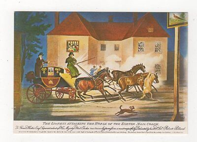 The Lioness Attacking The Horse Of The Exeter Mail Coach Postcard 618a